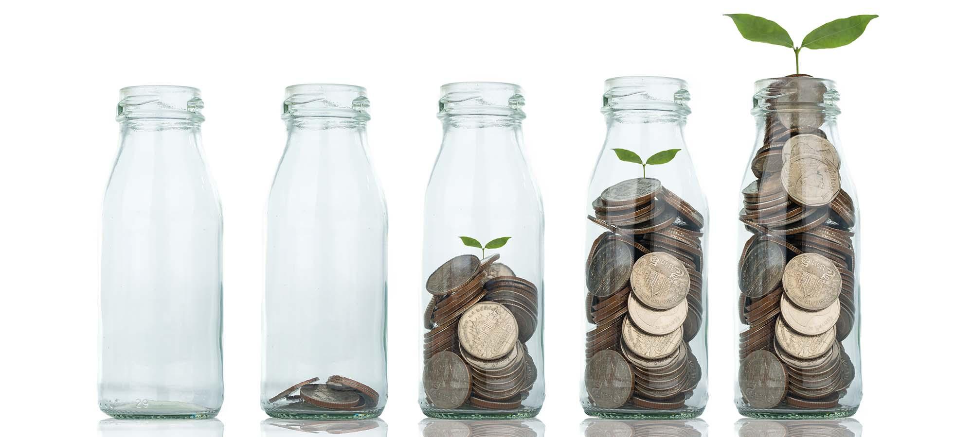 Glass med penger